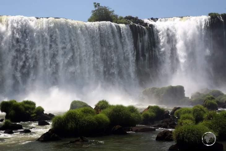 Located on the border of Argentina and Brazil, Iguaçu falls is the largest waterfall in the world.