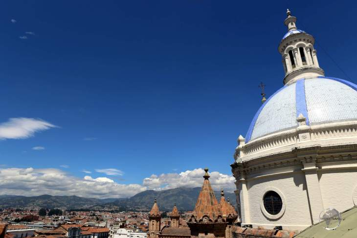 A view of Cuenca, from the rooftop of the Cathedral of the Immaculate Conception.