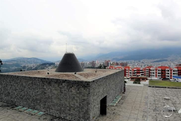 "A view of La Capilla del Hombre (""The Chapel of Man""), a museum which houses artworks by famous Ecuadorian artist Guayasamín."