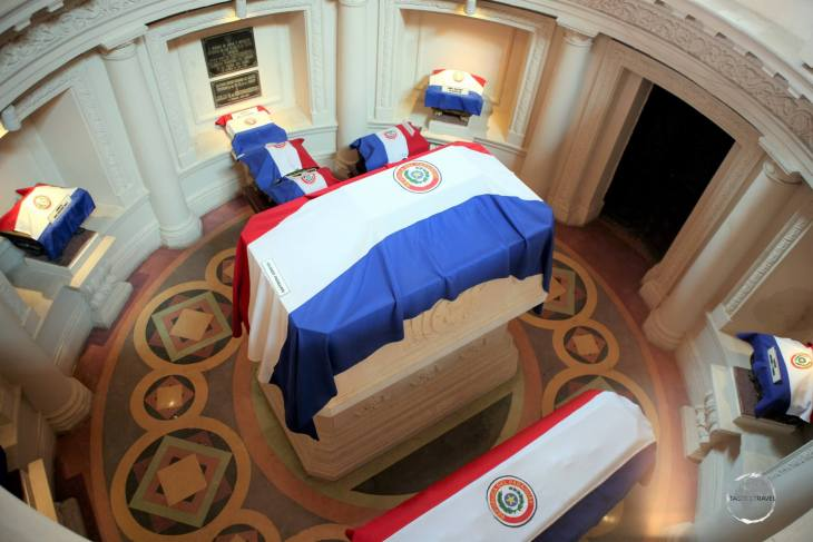 The Tomb of the Unknown Soldier in the 'Panteón Nacional de los Héroes' (National Pantheon of the Heroes), Asunción, Paraguay.