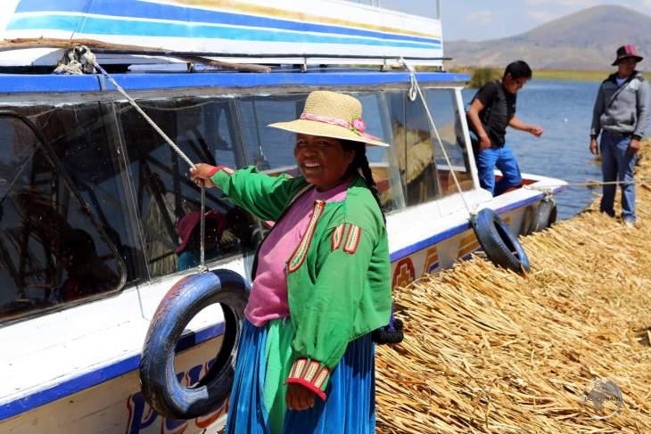The Uru or Uros are an indigenous people of Peru and Bolivia. They live on an approximate and still growing 120 self-fashioned floating islands in Lake Titicaca near Puno.