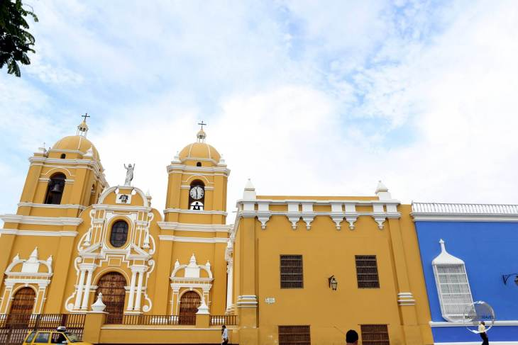 Constructed between 1647-1666 on Plaza de Armas, Trujillo Cathedral, also known as the Cathedral Basilica of St. Mary is the main cathedral of Trujillo, Peru.