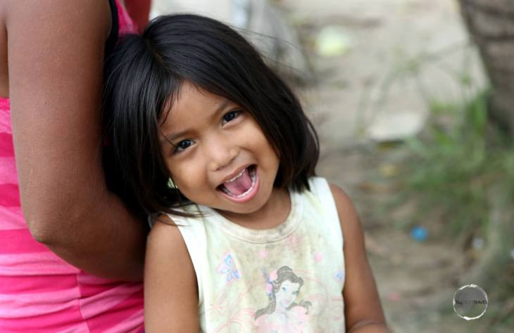 An indigenous girl in an Amazon village, where we stopped for lunch while travelling on the Transtur fast boat.