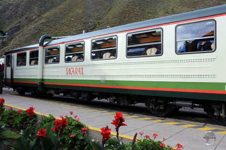 My 'Inca Rail' train which transported me from Ollantaytambo to Machu Picchu, a 2.5 hour journey through the picturesque Sacred Valley.