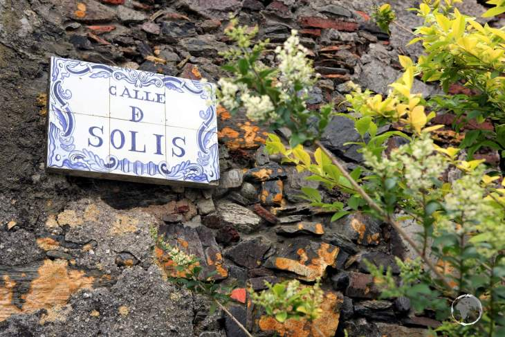 Calle de Solis, one of the main streets in the old town of Colonia del Sacramento.