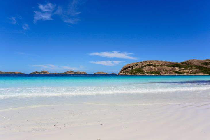 Lucky Bay is home to the whitest sand in Australia.