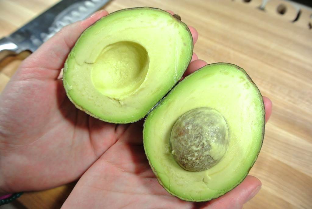 Slice your avocado in half
