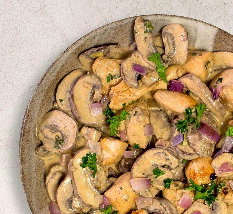 Champignon Pfanne mit Hähnchen