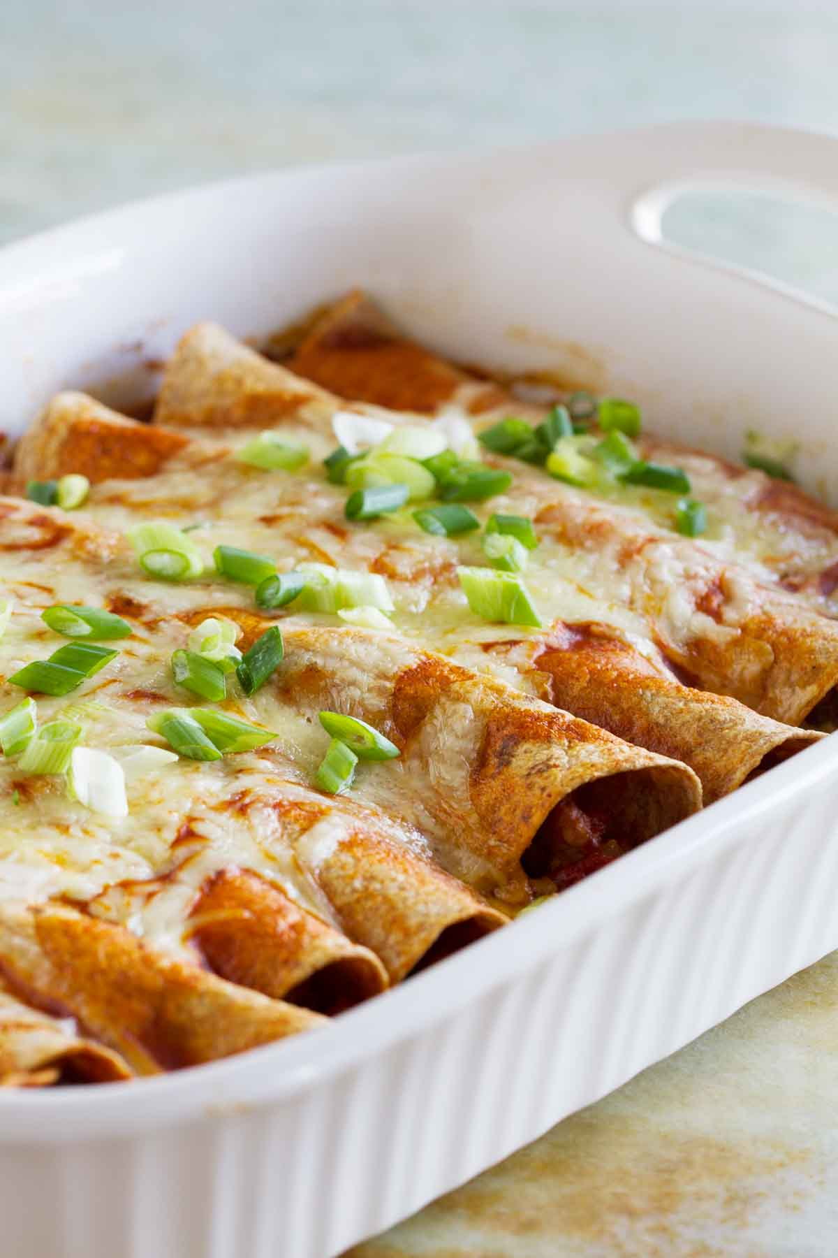 Mexican Chicken And Cheese Enchiladas