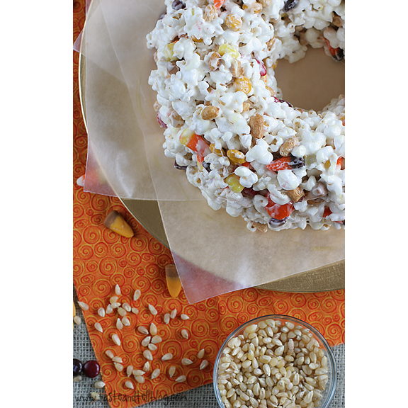 Halloween Popcorn Cake from Taste and Tell