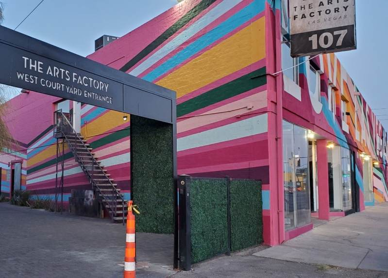 Arts Factory entrance web Taste Buzz Vegas Food Tours
