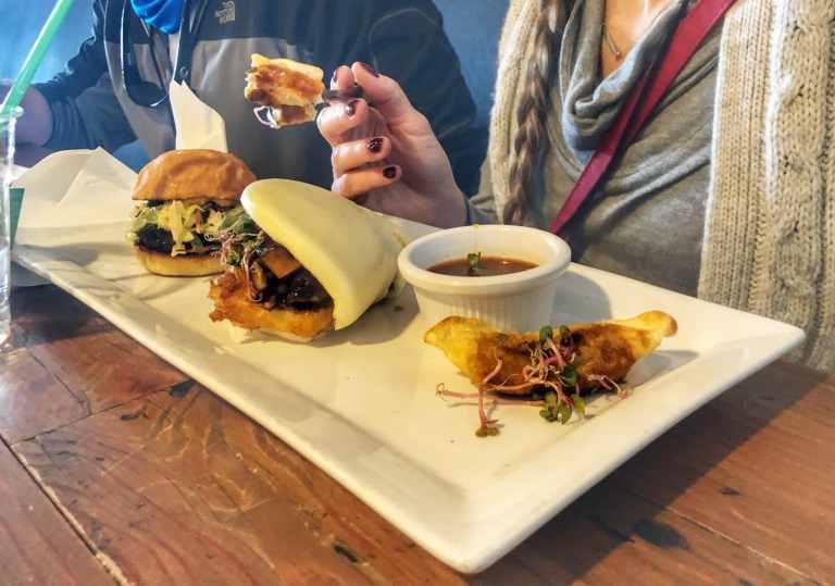 Sample tasting downtown Taste Buzz Vegas Food Tours