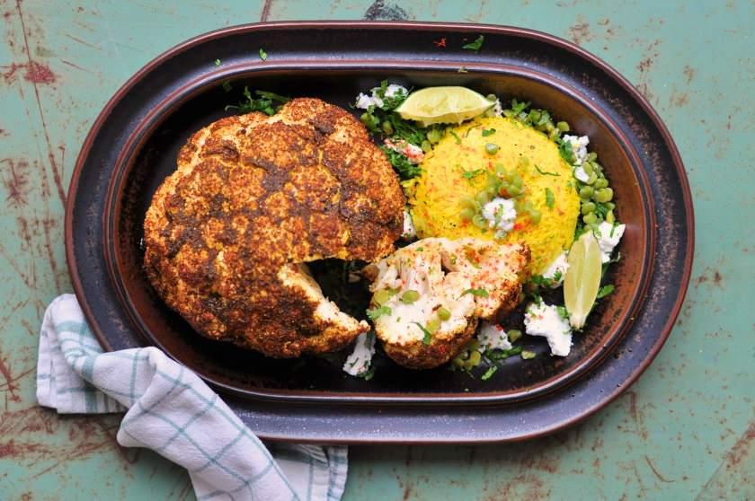 Vego_på_30_minuter_Cauliflower_with_tandoori_and_lentil_rice