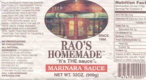 See for yourself: simple and top-quality ingredients make up Rao's incredible pasta sauces