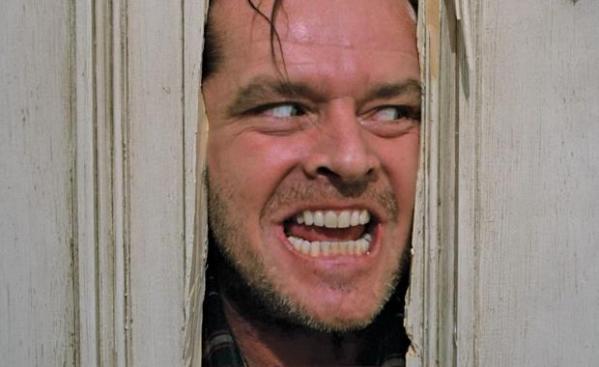 Jack Nicolson in The Shining