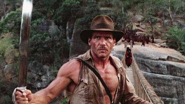 Image result for indiana jones and the temple of doom bridge scene