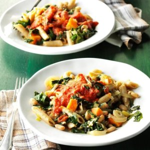 Day 18: Chard & White Bean Pasta