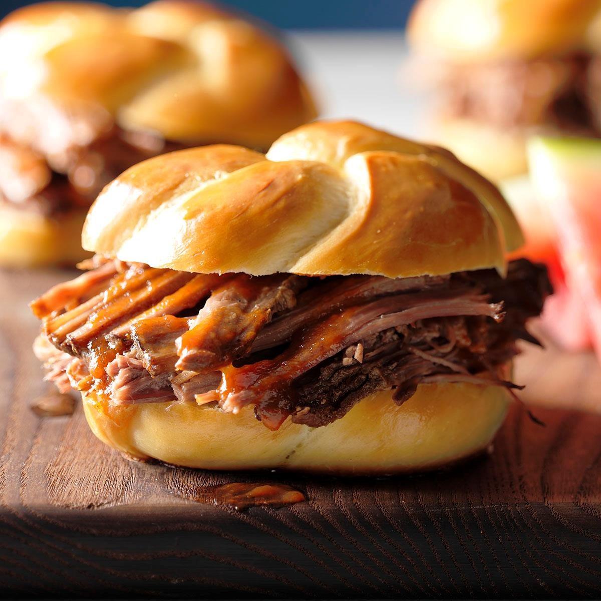 Pulled Brisket Sandwiches Recipe
