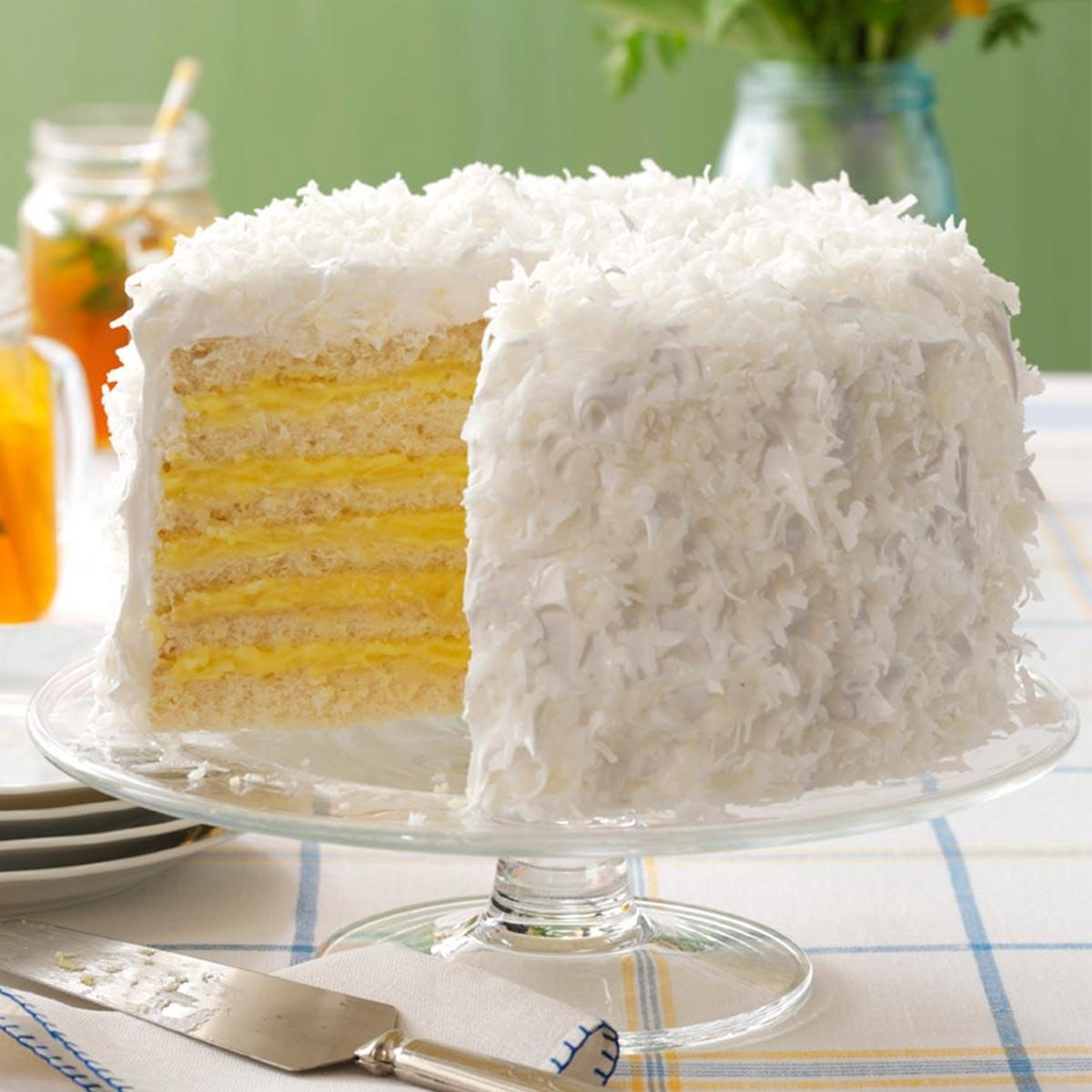 Six Layer Coconut Cake With Lemon Filling Recipe Taste
