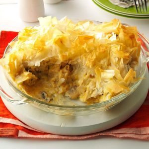 Day 16: Cheesy Chicken and Leek Phyllo Pie