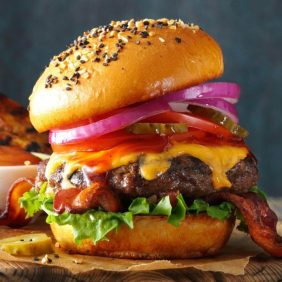 Barbecued Burgers