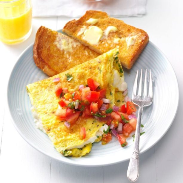 Cream Cheese & Chive Omelet