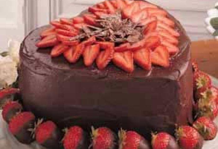 Victorian Strawberry Chocolate Cake Recipe Taste Of Home
