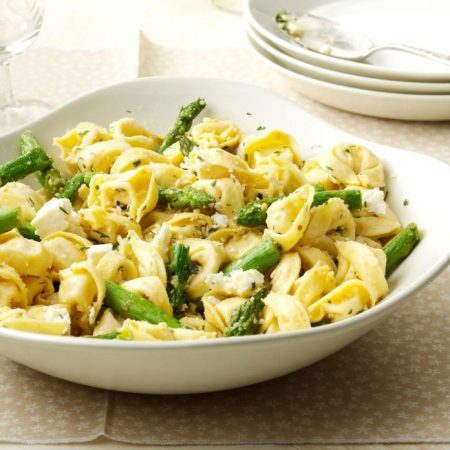 Tortellini with Asparagus & Lemon