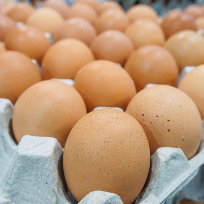 large carton of eggs