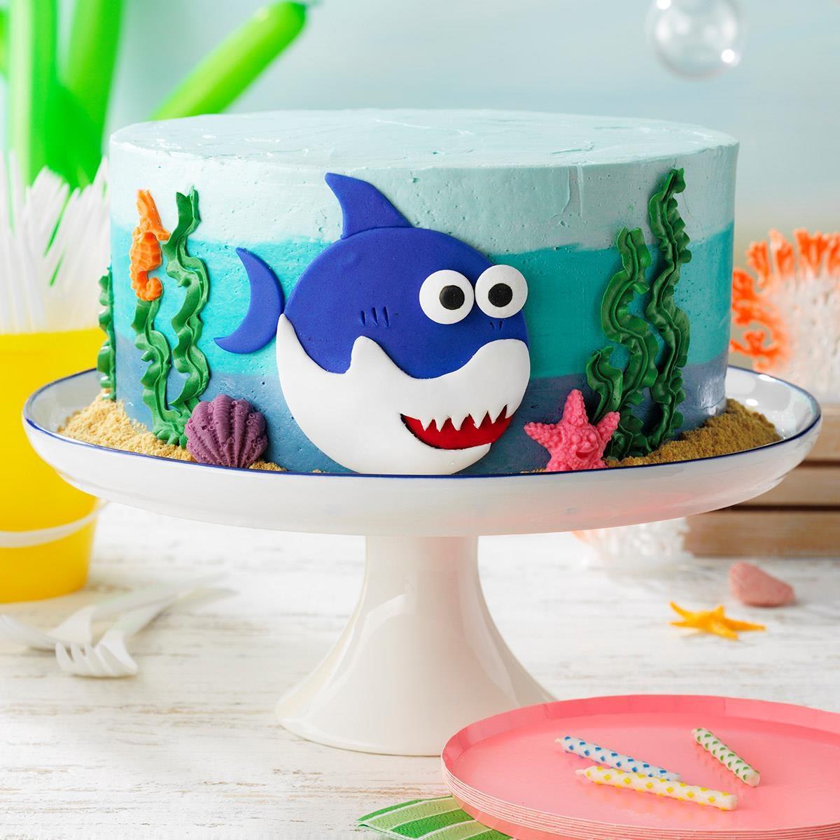 Baby Shark Cake Recipe How To Make It Taste Of Home