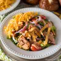 Barbecue Chicken Salad {Bob Evans Copycat Wildfire Chicken Salad}