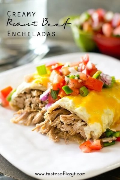 Creamy Roast Beef Enchiladas