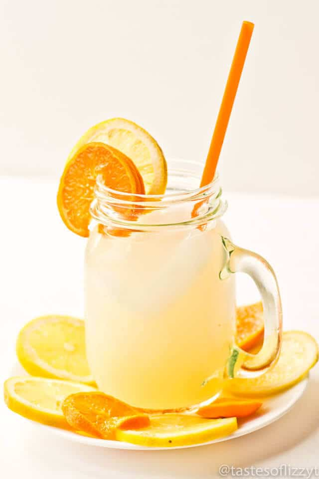 Sparkling Fruit Punch is a summery combination of lemons, oranges and sparkling apple cider. This punch is such a pretty display with sliced fruit on top!