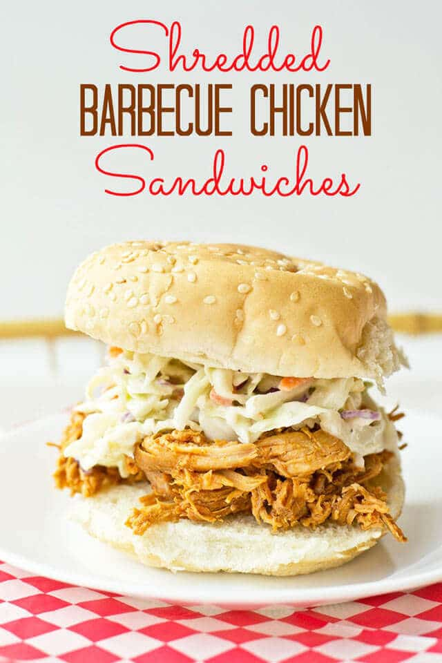 SHREDDED BARBECUE CHICKEN SANDWICH RECIPE