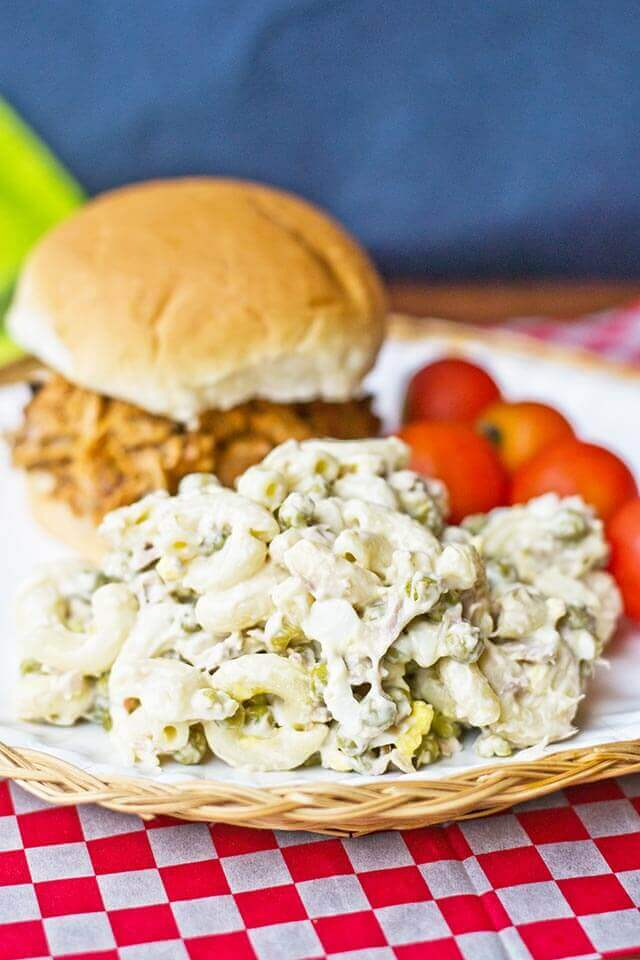 This Classic Tuna Macaroni Salad is an easy-to-prepare side dish perfect with sandwiches. A quick summer salad recipe for picnics! Classic Tuna Macaroni Salad {Easy Summer Side Dish Recipe}
