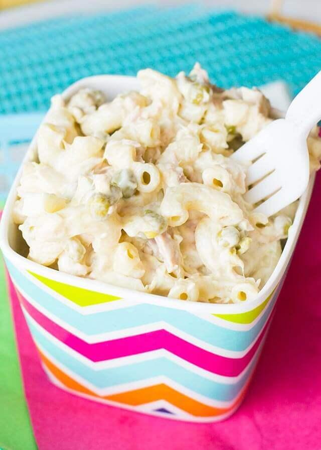 Classic Tuna Macaroni Salad Easy Summer Side Dish Recipe