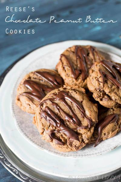 Reese's Chocolate Peanut Butter Cookies are soft cookies full of peanut butter and Reese's peanut butter cups. These cookies taste like the inside of a Reese's cup!
