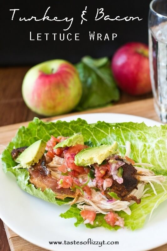 Turkey and Bacon Lettuce Wraps {Tastes of Lizzy T}