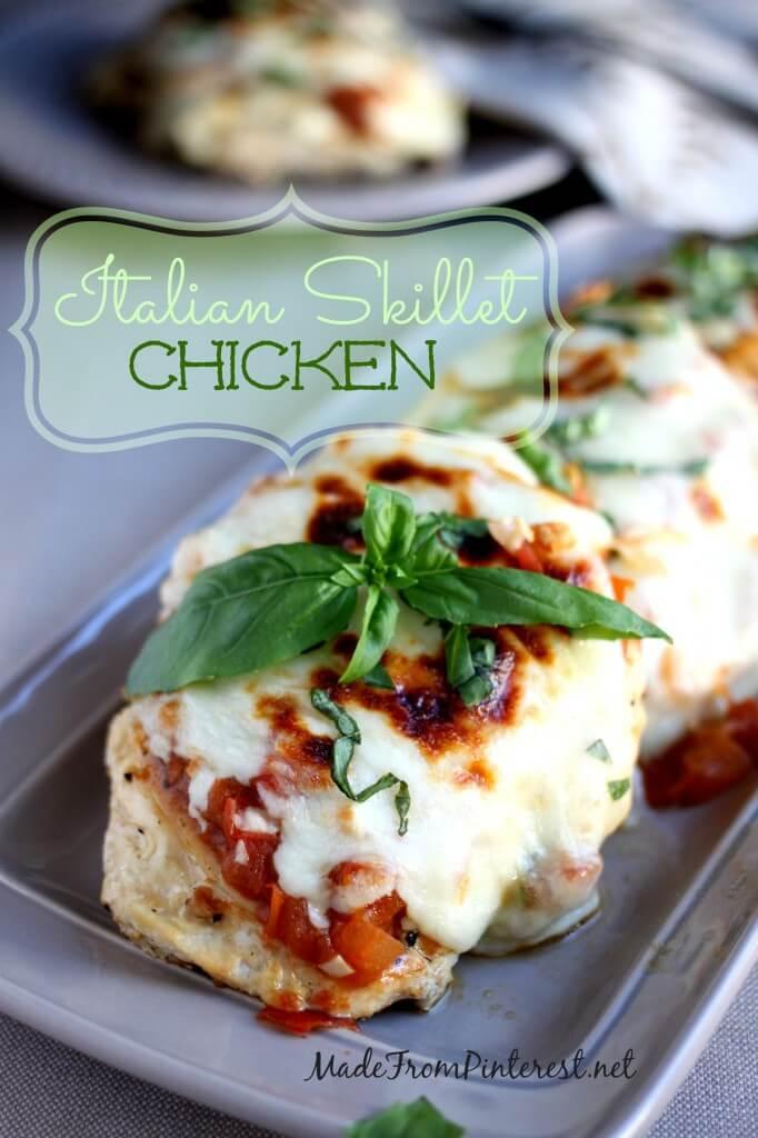 Italian-Skillet-Chicken-easy-dinner-recipe