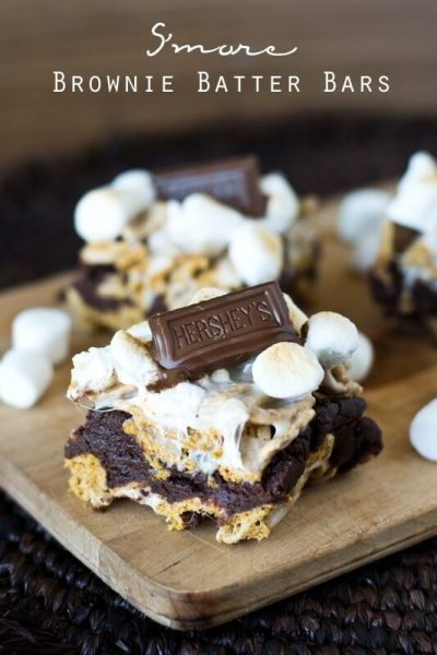 S'more Brownie Batter Bars