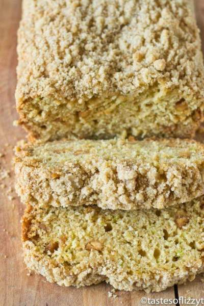 Peanut Butter Zucchini Bread with Brown Sugar Streusel