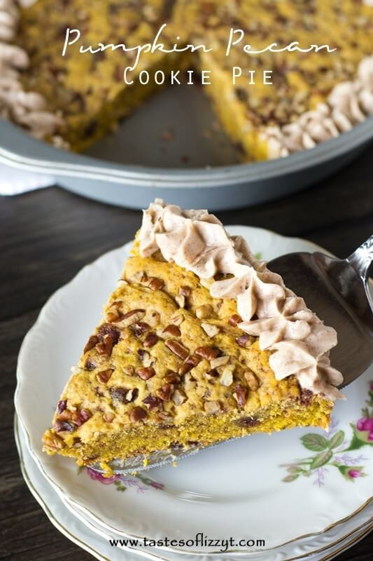 titled image (and shown): pumpkin pecan cookie pie