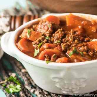 bowl of sweet potato chili