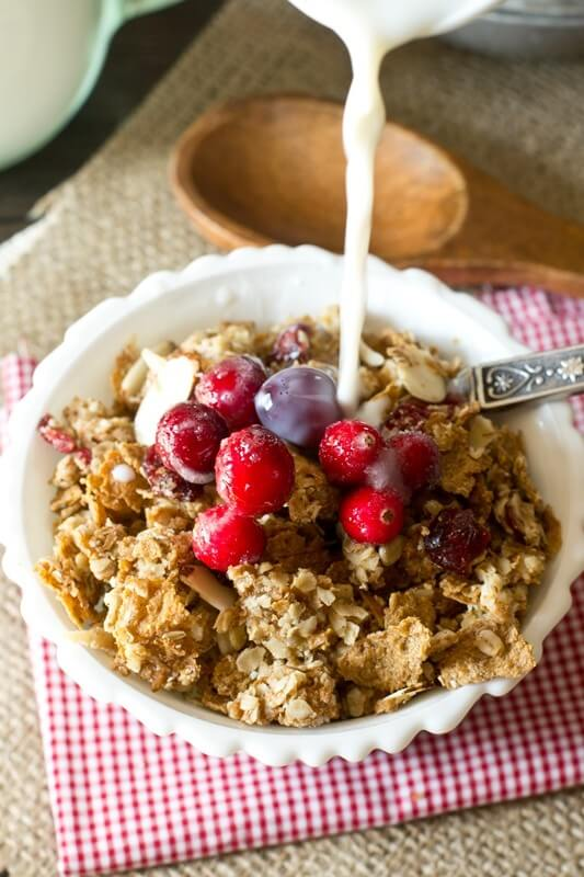 This Oatmeal Brown Sugar Granola is one of our favorite breakfasts. Serve in a bowl with milk or just eat it by the handful for an on-the-go breakfast.