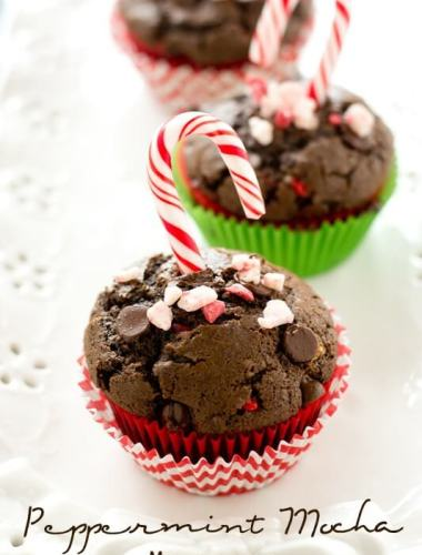 easy chocolate muffin recipe with peppermint
