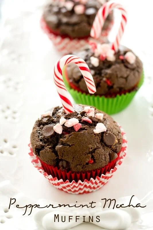 Peppermint Mocha Coffee Muffins #HolidayMadeSimple #ad #CollectiveBias