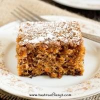 Carrot Walnut Cake - Tastes of Lizzy T