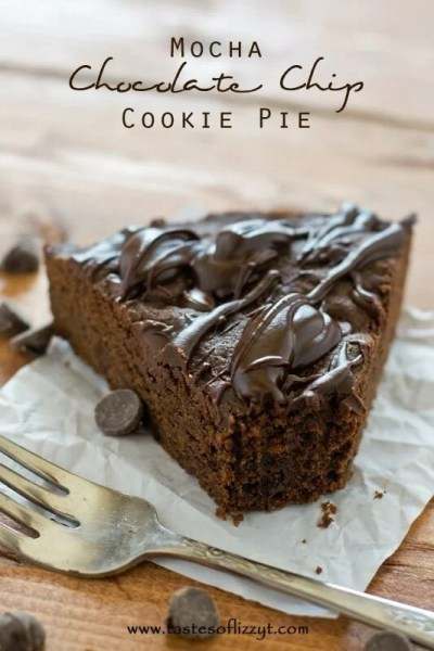 Mocha Chocolate Chip Cookie Pie