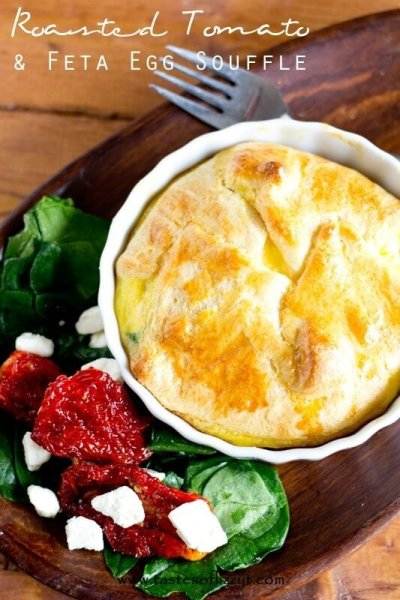Roasted Tomato and Feta Egg Souffle