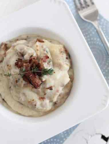 Bacon & Thyme Mashed Cauliflower Recipe - The Whole Smith's for Tastes of Lizzy T